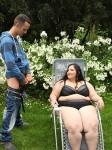 Intense facesitting with fat 120kg butt